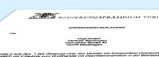 AMG Großhandelserlaubnis Reutlingen